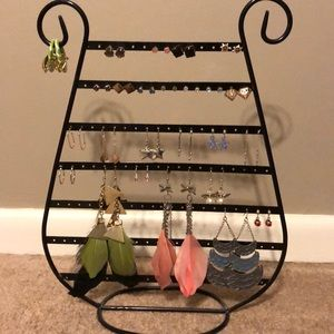 Earrings with stand